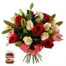 Доставка цветов.ру: букет Для любимой +Нутелла