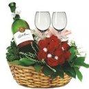Доставка цветов.ру: подарок Вино и Розы