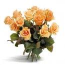 Доставка цветов.ру: букет Первоклассные персиковые розы