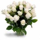 Доставка цветов.ру: букет Первоклассные белые розы